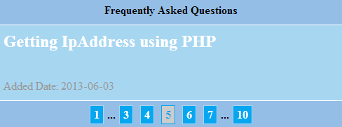 php_pagination_output