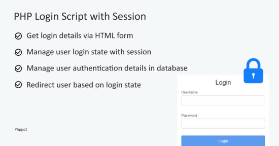 PHP Login Script with Session - Phppot