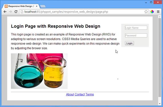 Responsive Web Design Phppot