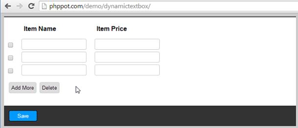 php-jquery-dynamic-textbox