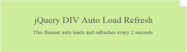 Jquery div auto load and refresh phppot - Jquery refresh div ...