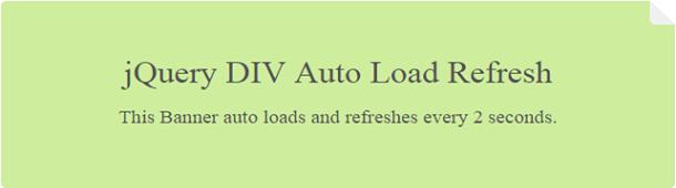 jquery-div-auto-load-refresh