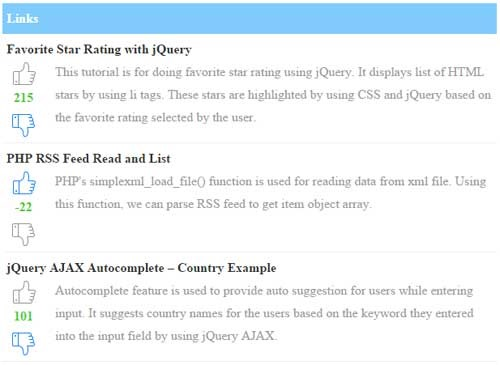 php-jquery-voting