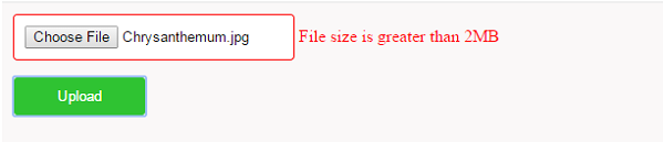 jQuery File Size Validation