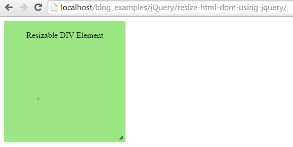 Resize html dom using jquery - Jquery resize div ...