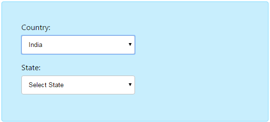 jQuery Dependent DropDown List – Countries and States - Phppot