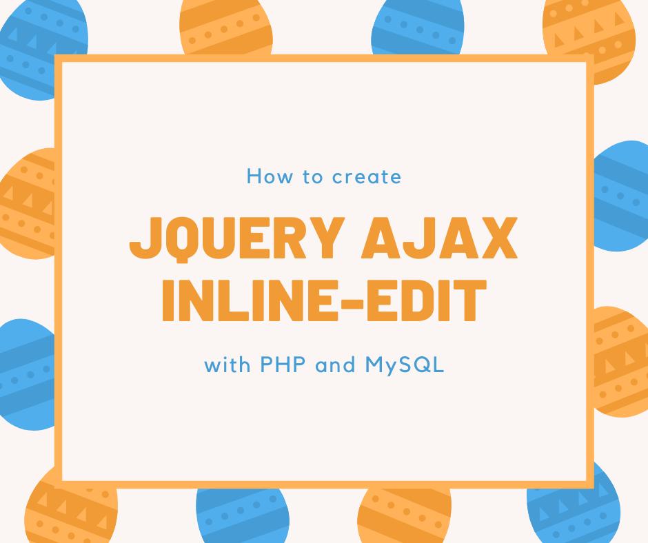jQuery AJAX Inline Edit in PHP