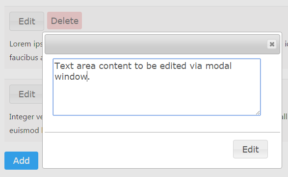 jQuery AJAX Add Edit Modal Window - Phppot