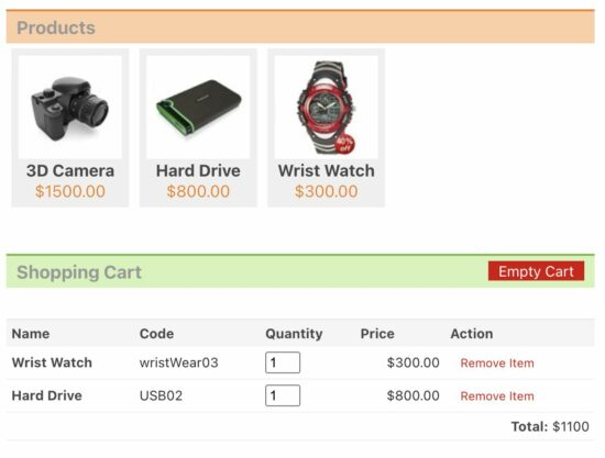 PHP Shopping Cart by jQuery Drag and Drop