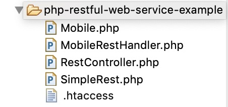 PHP RESTful Web Service File Structure