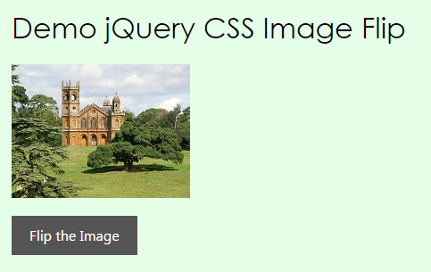 Image flip with jquery css - Jquery rotate div ...