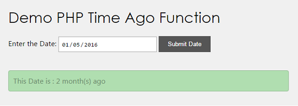 PHP Time Ago Function - Phppot