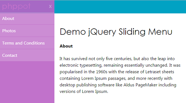 jquery-sliding-menu