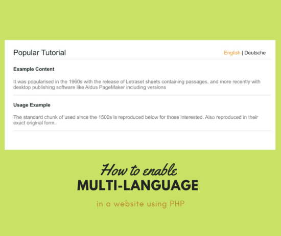 How to Enable Multi-Language Support in PHP Website