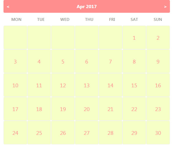 Creating Web Calendar in PHP using jQuery AJAX - Phppot
