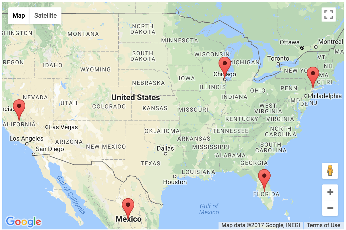add markers to show locations in google maps – output. add markers to show locations on google maps