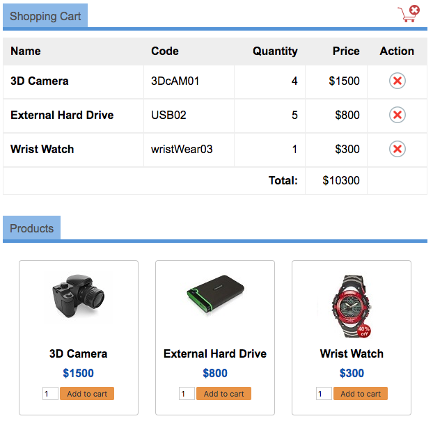 persistant-shopping-cart-output