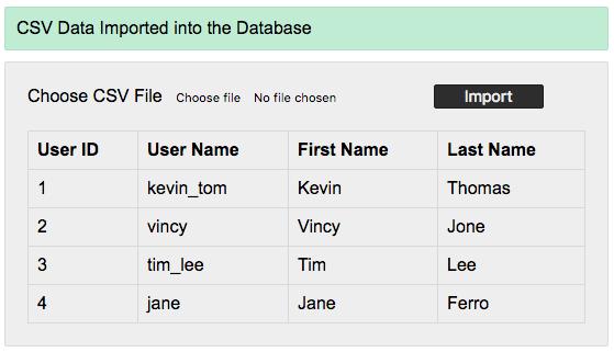 import-csv-file-into-mysql-using-php-output