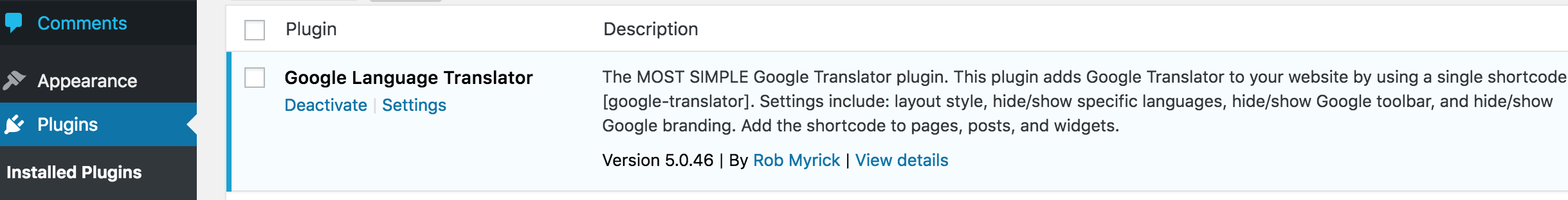 installed-google-language-translator