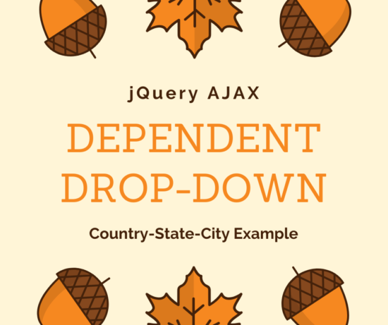 Country-State-City Example Cascading jQuery Dependent Dropdown