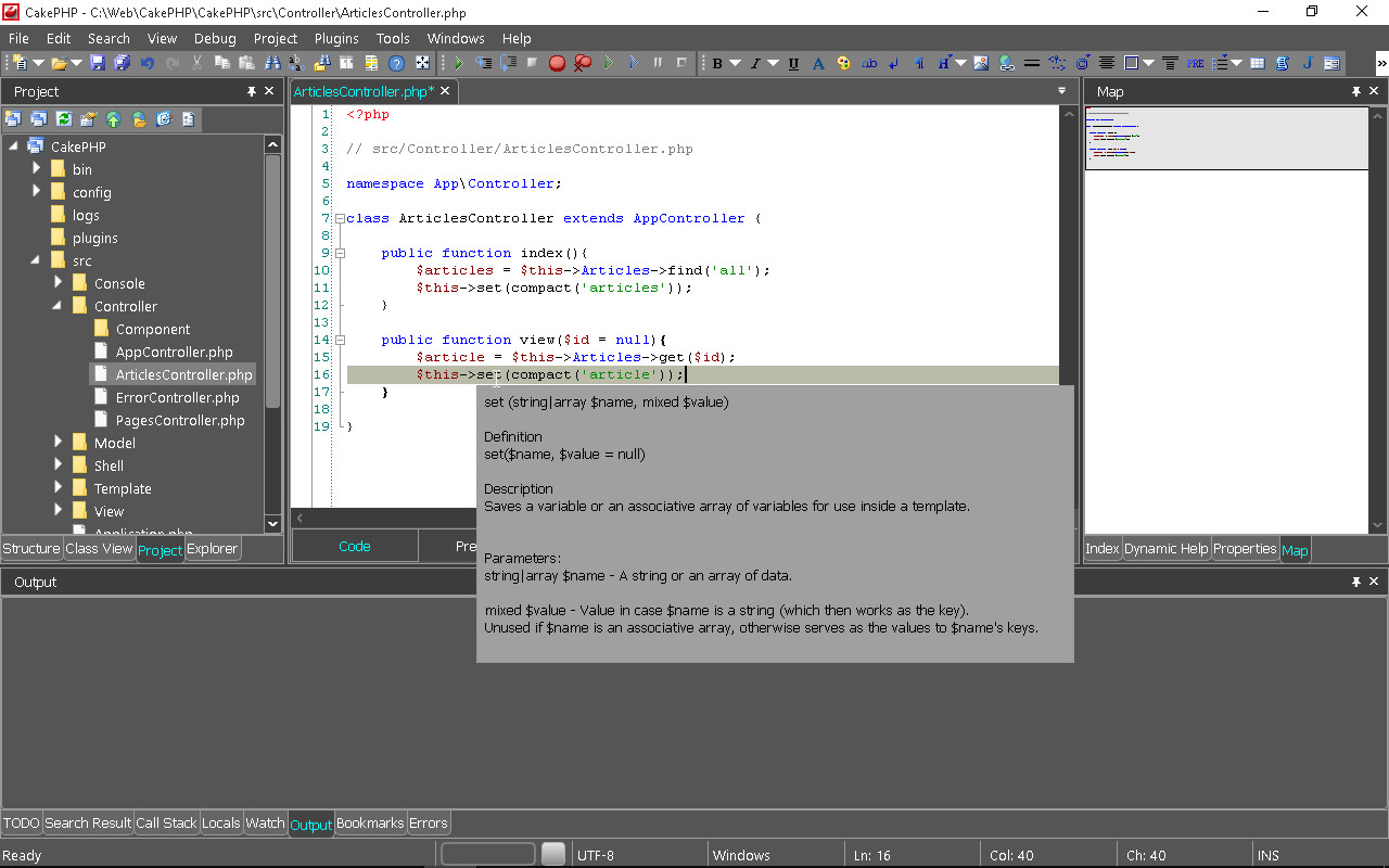 Support for PHP frameworks in the CodeLobster IDE - Phppot