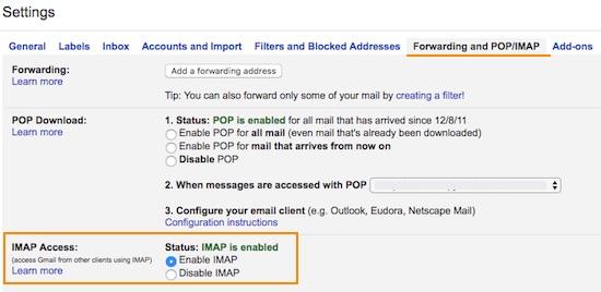 gmail-imap-configuration