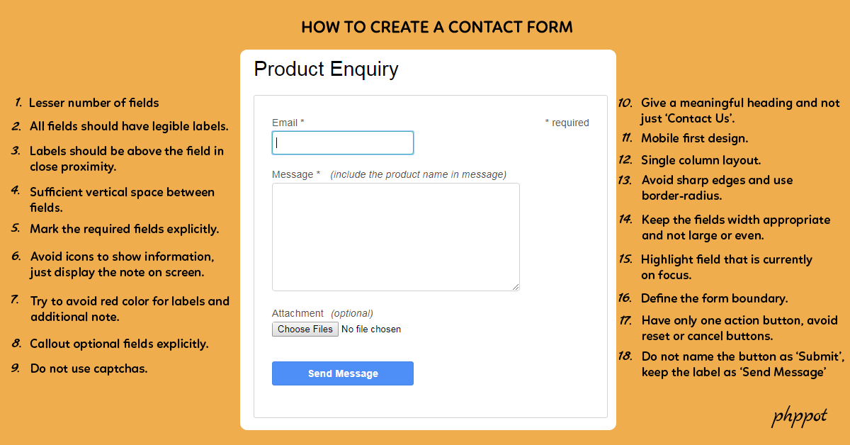 Simple Secure Spam-Free Contact Form in PHP – Iris - Phppot
