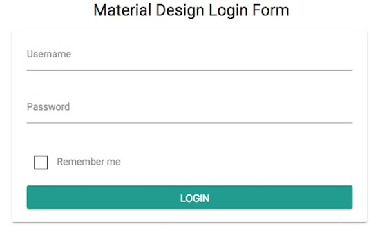 material-design-login-form-output
