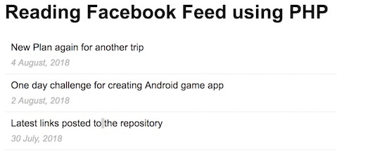 Reading-Facebook-Feed-using-PHP-SDK-Output