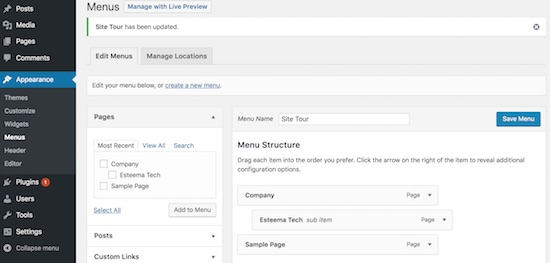 Adding-Pages-to-Site-Themes-Menu