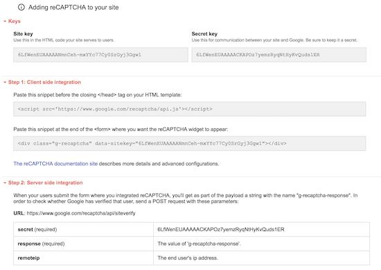 How to Get Google reCaptcha Site and Secret key - Phppot