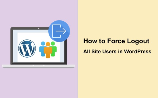 how to force logout all site users in wordpress