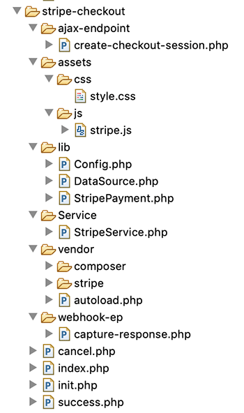 Stripe Example File Structure
