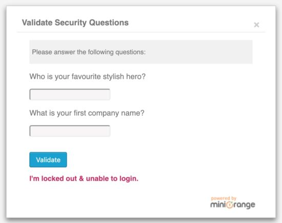 Two-Factor Authentication with Security Questions