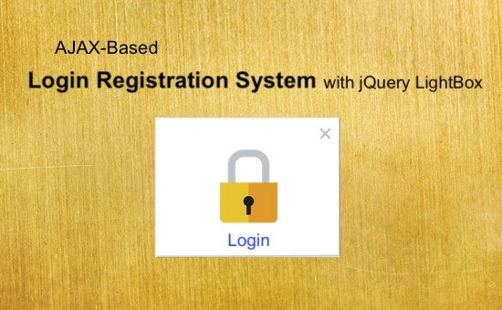 AJAX Based Login Registration System with jQuery Lightbox