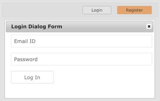 Login Dialog Output