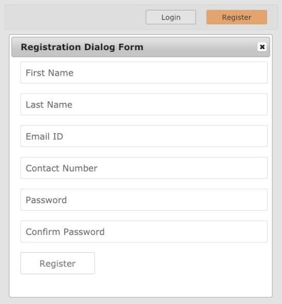 Registration Dialog Output