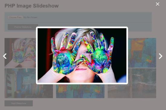 PHP Image Slideshow Output