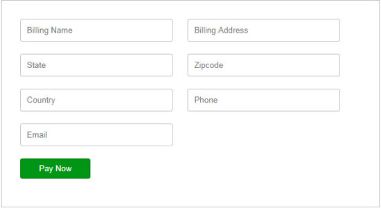 CCAvenue Payment Form Output