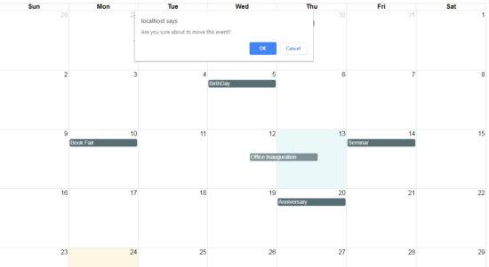 Edit Calendar Event