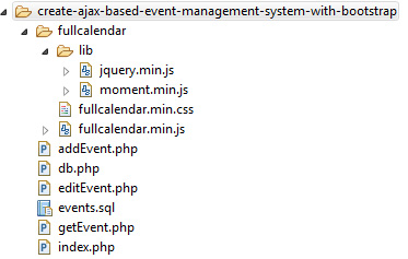 Event Management File Structure