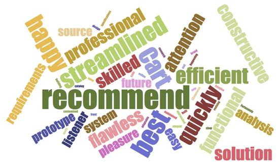 phppot testimonials wordcloud