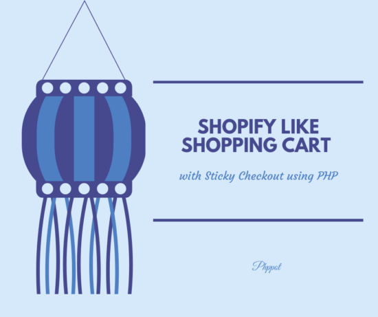 Shopify Like Shopping Cart with Sticky Checkout using PHP