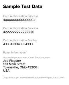 2Checkout Sandbox Card Details
