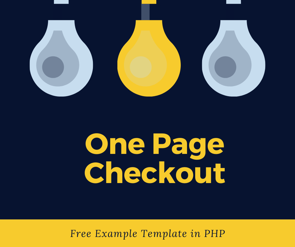 One Page Checkout Script Free with Example Template in PHP