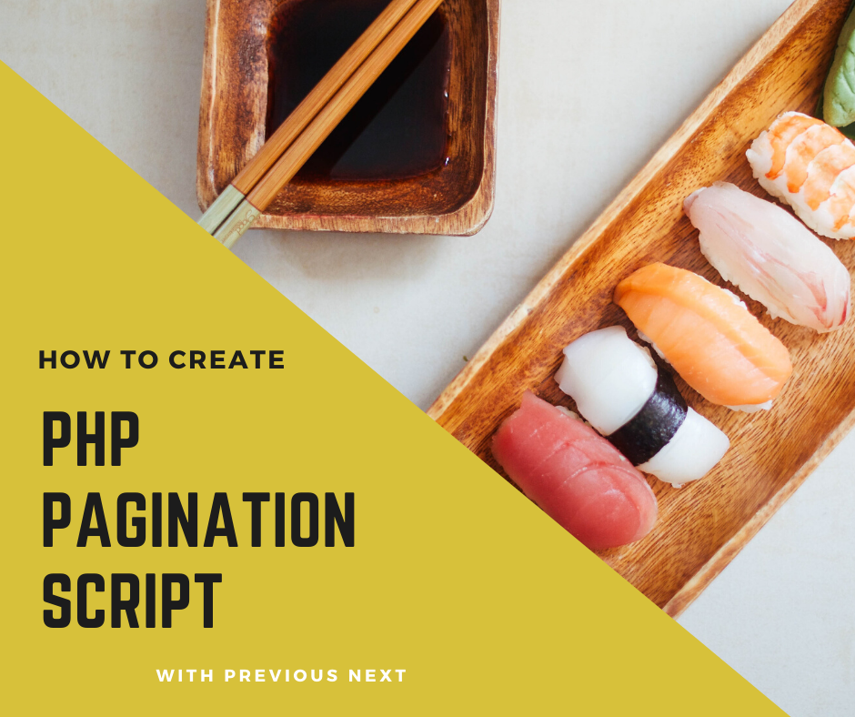 PHP Pagination Script with Previous Next