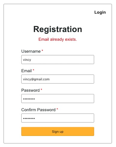 Screenshot User Registration in-php PHP