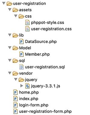 User Registration File Structure