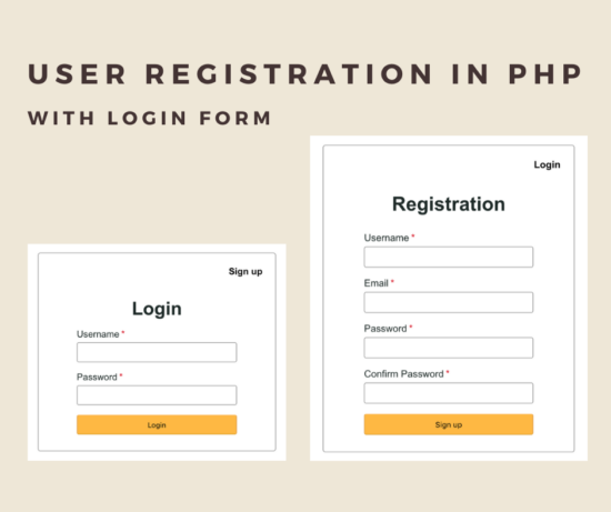 User Registration in PHP with Login Form