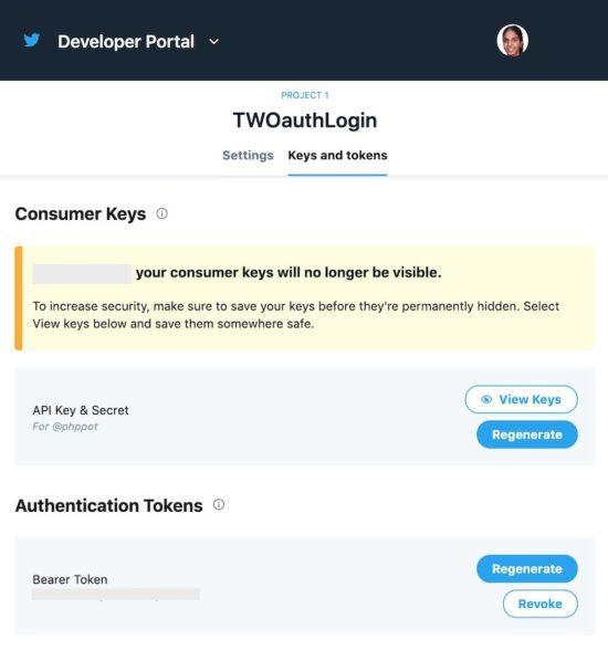 Twitter API Keys